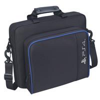 leinwand dünn großhandel-PS4 Slim Game Sytem Tasche Canvas Case Schützen Schulter Tragetasche Handtasche Originalgröße für PlayStation 4 PS4 Pro Console
