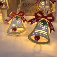 1.8 sata toptan satış-Noel Dize Işıklar Noel LED Işık Ev dekorasyon Beyaz Işıklar Santa Akülü Parti 1.8 m 10 asılı