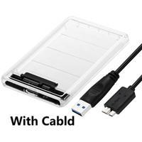 sata katı hal toptan satış-SATA 3 USB Mobil Sabit Disk Sürücüsü Kutusu USB 3.0 Sabit Disk SSD HDD Muhafaza Katı Hal Kutusu
