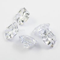 Wholesale gem heating - free shipping 10pcs lot 8.5mmX8.5mm cubic zirconia simulated diamond asscher cut loose gem stones