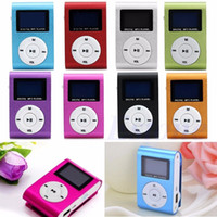 Wholesale pink mini clip mp3 player for sale - Fashion Mini USB Clip MP3 Player LCD Screen Support GB Micro SD TF Card Radio