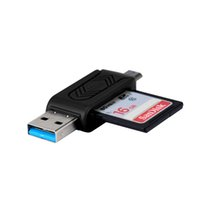 Hot-sale Top quality MINI 2 in 1 Super High Speed ​​USB 2.0 + OTG Micro SD / SDXC TF Card Reader Adattatore Mac OS Pro PC Laptop Computer