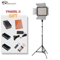 ingrosso yongnuo-Yongnuo YN600L II YN600L II 600 pannello video luce a LED Set fotografia 3200-5500K + caricabatterie + adattatore per treppiede batteria
