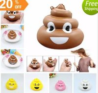 Wholesale family cell - Squishy Poo Family Emoji Pendant Fun Slow Rising Jumbo Cartoon Pendant Squeeze Cell Phone Strap Stress Reliever Kids Toy AAA143