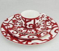 ingrosso set di stoviglie-Piatto di ferro spagnolo set di piatti in porcellana piatti di porcellana piatti in ceramica set di stoviglie piatto di carne bistecca di 4