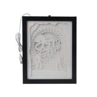 ingrosso luci di polpo-Papercut Light Box LED USB Night Light Lampada Dipinti Creativi Octopus L22