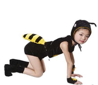 Wholesale girls cosplay - 2018 New style children Cosplay Ant Animal perform clothing Boys and girls Dance Conjoined clothes