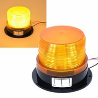 Wholesale amber fog lights online - Car styling V V Car LED Flashing Strobe Beacon Emergency Warning Alarm Flash Light Lamp Amber Common Car Truck Auto