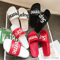 vestidos de menina menino modelo venda por atacado-Sandálias de grife Sandálias de grife de Luxo Homens de Verão Moda Largo Escorregadio Plana Com Sandálias Grossas Chinelo Flip Flop Com Caixa