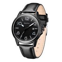 ingrosso orologio al quarzo resistente all'acqua nera-Zgo Quartz Wristwatches Black Alloy - Orologio da uomo Casual Fashion - Cinturino in pelle da uomo - Orologio da polso 3Bar Resistente all'acqua Zgo811.