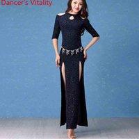 hint dans kıyafeti toptan satış-Yeni Moda Oryantal Dans Kostüm Oryantal Hint Dans Kadın Lady Kızlar için Belly Dance Elbise Giymek Giysi Giysiler
