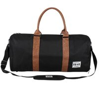 Wholesale duffle style handbags - Hot Luxury brand men women travel bag PU Leather duffle bag brand designer luggage handbags large capacity sports bag