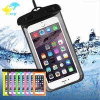 Wholesale pocket green - Dry Bag Waterproof case bag PVC Protective universal Phone Bag Pouch With Compass Bags For Diving Swimming For smart phone up to 5.8 inch
