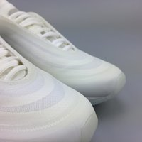 Wholesale Transparent Lace Fabric - 2018 Off X 97 Ice OG Virgil Abloh Men Women Running Shoes Top Quality 97 Transparent Authentic Sneakers With Box