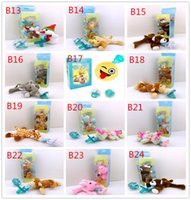 Wholesale Baby Variety - Baby pacifier baby hanging animal plush toys suit variety of dolls wholesale