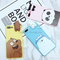 Wholesale Cute Chinese Toys - 3D cute cartoon toys bears brothers phone Cases For iphone X 8 7 6 5S Plus cute panda soft silicone case back cover for oppo vivo opp bag