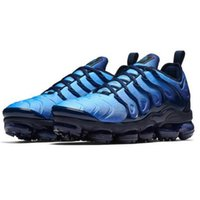 Wholesale hiking pack - 2018 NEW Vapormax TN Plus Olive In Metallic White Silver Colorways Shoes Men Shoes For Running Male Shoe Pack Triple Black Mens Shoes
