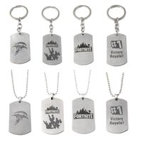 Wholesale toy game keychains online - SG Hot New Games Fort nite Victory Royale Keychains High Quality BF4 Battlefield Keyring Antique Bronze Pendants Jewelry kids toys