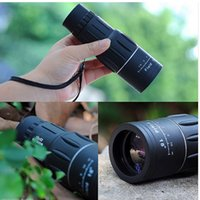 Wholesale mini monocular telescope night resale online - Pocket Mini Monocular Telescope X52 HD Telescopes Night Optic Lens Clear And Comfortable Vision Black Travel Supplies sj Ww