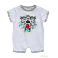 Wholesale girls clothes tiger resale online - Baby Bodysuit Summer Lovely Tiger Print Girl Clothes Babies Boy Clothing Fashion Baby Dresses Newborn Baby Clothes Infant Jumpsuits Romper