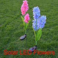 Wholesale ip68 battery led - Solar hyacinth lights LED Outdoor Waterproof Solar Flower Battery Light Hyacinth for Garden, Balcony, Lawn Illumination