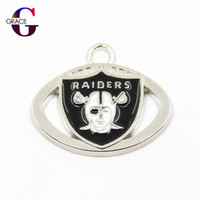 Wholesale football floats - 20pcs lot Football Team Pendant Floating Charms Silver Dangle Charms Fit Sports Necklace Bracelet DIY Jewelry