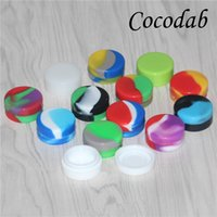 Wholesale electronic containers for sale - Group buy electronic cigarette accessories Non stick Silicone ml Container For Wax Bho Oil Butane Vaporizer ml Silicon Jars Dab Wax Container rigs