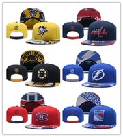 Wholesale c arts - 2018 News Ice hockey Adjustable Snapbacks Hip hop Flat hat Sports Team The High quality embroidery Caps For Men And Women-C