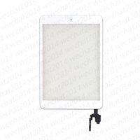 Wholesale ic panel for sale - Touch Screen Glass Panel with Digitizer with ic Connector Buttons for iPad Mini free DHL