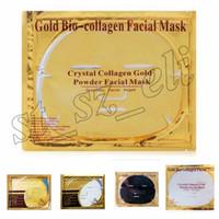 ingrosso 24k polvere maschera-24K polvere d'oro Bio maschera al collagene Albumen Crystal maschera facciale Ragazza Donna Cura della pelle Gel maschera per il viso maschera Peeling facciale 5 tipi