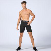 blue mens leggings Australia - Gym Mens Tights Leggings Quick Drying Elastic Basketball Shorts Running Sportswear Football Man Sport Compression shorts