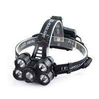 Wholesale led headlamp adjustable focus resale online - 30000LM Modes x XM L T6 LED USB Adjustable Focus Headlamp HeadLight for Outdoor Bike Bicycle Cycling Riding Night Safty P40
