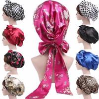 Wholesale hair bow weave for sale - Group buy Soft Scarf Hijab Satin Bow Headscarf Bonnet Hair Wrap Sleeping Turban Hair Accessories Head Scarf Sleeping