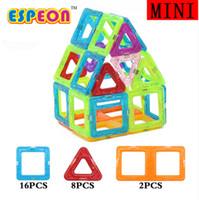 manyetik plastik blok toptan satış-26 Adet Mini Manyetik Tasarımcı Yapı Taşları Çocuk Modelleri Bina Oyuncaklar Teknik Plastik DIY Enlighten Tuğla Çocuk Mıknatıs Oyunu
