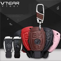 Wholesale Leather Case For Car Remote - For Benz C200L glc260 glk300 gla200 b200e 300l Hand-stitched leather key case intelligent remote control package special car