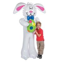 schlauchboote spielzeug für kinder großhandel-160 cm cartoon aufblasbare große weiße kaninchen outdoor toys für kinder ostern party dekoration bühne prop bolzen ballons toys