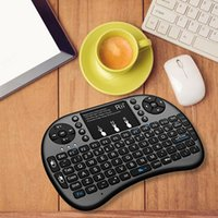Wholesale Wireless Mouse For Htpc - Rii I8 Fly Air Mouse 2.4G Colorful Backlit Backlight Wireless Touchpad Keyboard Multifunction for Andriod TV Box HTPC PC Pad