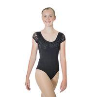 ingrosso leotard nero di lycra-Commercio all'ingrosso Royal Blue Black Cotton / Lycra Lace Cap Sleeve Dancing Body Girls Balletto Dancewear Ladies Body