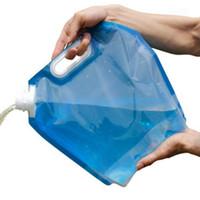 ingrosso contenitori di stoccaggio dell'acqua-5L 10L portatile pieghevole PE sacchetto dell'acqua viaggio auto potabile contenitore Carrier Storage Pack per lo sport Camping