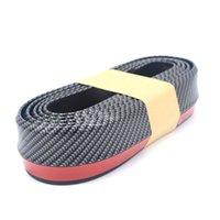 spoiler avant en fibre de carbone achat en gros de-Bande de bande gommée Bande de ruban adhésif gommé de haute qualité avant de la voiture Spoiler Cantonnière Body Protector Car styling