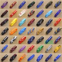 bilezik için basketbol takılar toptan satış-Ayarlanabilir Basketbol Yıldız Bilezik Silikon Kauçuk Spor Bileklik Kobe James İmza Charm Bilezikler Basketbol Hayranları için 49 Renkler