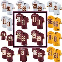 c52b1c9fb 2018 Mens Washington 8 Kirk Cousins 11 Alex Smith 21 Sean Taylor Redskins  Jersey 72 Eric Fisher 86 Reed football Jerseys stitched 01