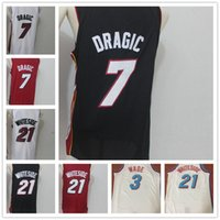 Wholesale dwyane wade shirt - 9 Dwyane Wade 7 Goran Dragic 21 Hassan Whiteside Men's City Basketball Jerseys Fashion Player version Mens polo shirt Men Sport Jersey
