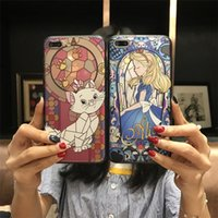 Wholesale Two Phones One Case - For iPhone8 8 plus   6s two-in-one Relief Cartoon Painting Patterns All-inclusive drop-resistant soft shell matte Cell Phone Cases DHL ship