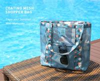 koreanische stickentasche großhandel-Strandtaschen dichten Mesh Handtaschen Frauen Mode Strand Reisetaschen Umhängetasche Mode Einkaufstaschen