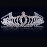 diamond reines haar großhandel-Kinderkronen, Diamant-Haarschmuck, Performance-Reifen, Bräute, die Kopfbedeckungen tragen, reine Haarreifen.