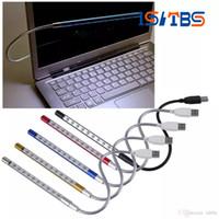 pc klavye için led lambası toptan satış-Ürün Mini Taşınabilir Esnek 10 Led USB Işık Bilgisayar okuma Lambası Dizüstü Dizüstü Bilgisayar Masaüstü PC için Klavye