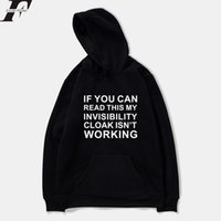 Wholesale Invisible Clothing - LUCKYFRIDAYF 2018 Invisible Cloak Spring Women Sweatshirts Hoodie Letter Funny Harajuku Casual Hoodie Men Women Printing Clothes