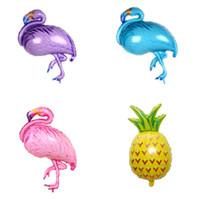 Wholesale valentines day supplies - New Aluminum film balloon 105*51cm flamingos ballon Valentine 's Day decoration decorative balloon 50pcs lot T2I236