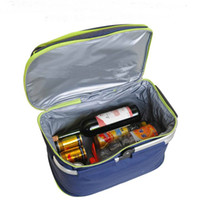 Wholesale Picnic Basket Food - Wholesale-Outdoor Waterproof Oxford Picnic Basket Keep Cold Hot Insulation Folding Food Storage Lunch Bags Picnic Handbag Camping LunchBox